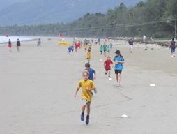 Cross country at four mile beach